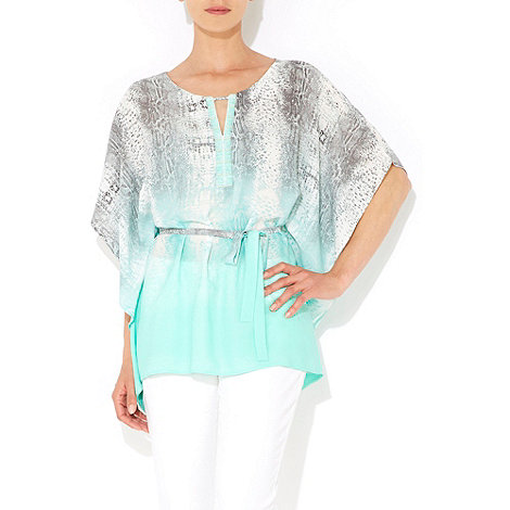 Wallis - Mint green animal print kaftan