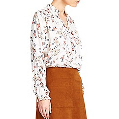 Wallis - Cream floral print shirt