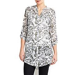 Wallis - Cream butterfly print shirt