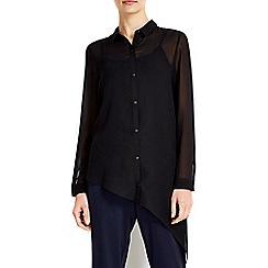 Wallis - Black asymmetric shirt
