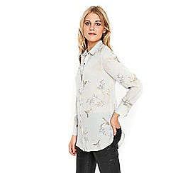 Wallis - Grey bird print shirt