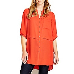 Wallis - Orange layer detail shirt
