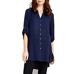 Wallis - Navy layer detail shirt