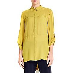 Wallis - Olive layer detail shirt