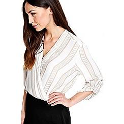 Wallis - Stripe wrap blouse
