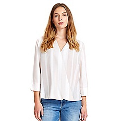 Wallis - Stone wrap blouse