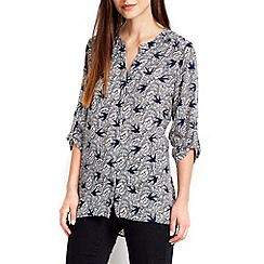 Wallis - Bird printed woven shirt