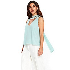 Wallis - Mint green embellished top