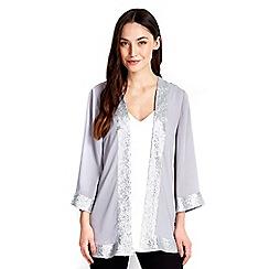 Wallis - Grey jacket with sequin edge