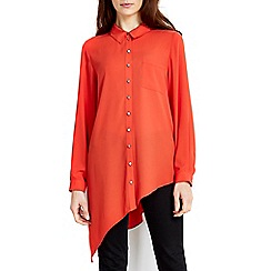 Wallis - Orange asymmetric shirt