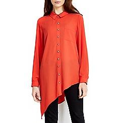 Wallis - Orange asymmetric shirt