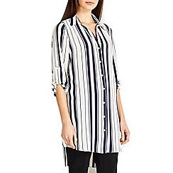 Wallis - Navy stripe shirt