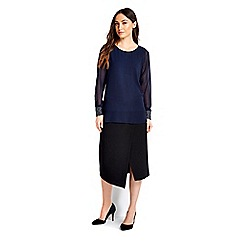 Wallis - Navy embellished blouse