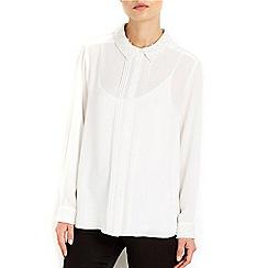 Wallis - Cream pearl collar shirt