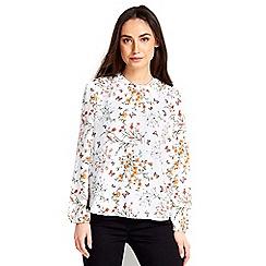 Wallis - Pale pink sheer printed blouse
