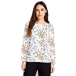 Wallis - Pale pink printed blouse