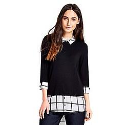 Wallis - Monochrome check shirt