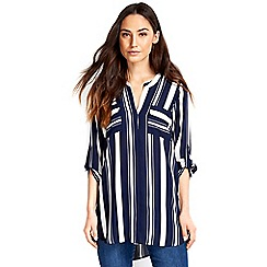 Wallis - Navy stripe shirt