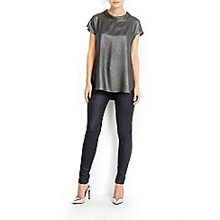Wallis - Metallic roll neck top