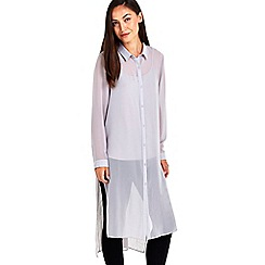 Wallis - Extreme longline grey shirt