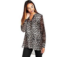 Wallis - Sheer leopard print shirt
