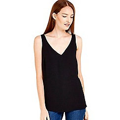 Wallis - Plain black camisole top