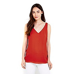 Wallis - Plain rust camisole top
