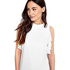 Wallis - Ivory sleeveless blouse