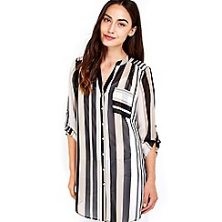 Wallis - Stone stripe shirt