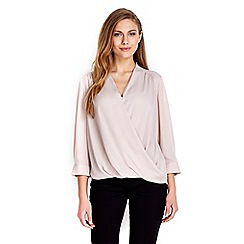 Wallis - Mink plain wrap top