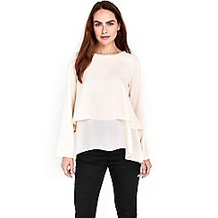Wallis - Stone embellished neck layered top