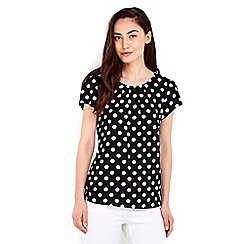 Wallis - Monochrome spot printed shell top