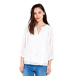 Wallis - Cream embroidered top