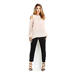 Wallis - Sapphire pink cold shoulder top