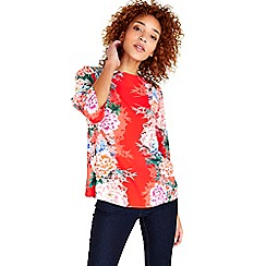 Wallis - Mirror floral print top