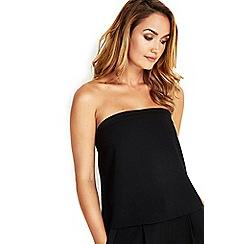 Wallis - Sapphire black strapless top