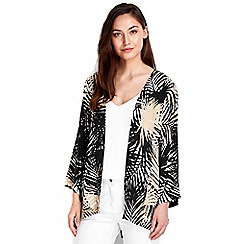 Wallis - Stone palm print jacket