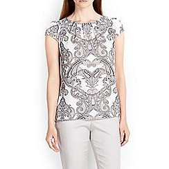 Wallis - Paisley printed shell top