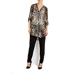 Wallis - Animal print shirt