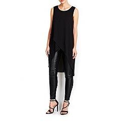 Wallis - Black asymmetric longline shirt