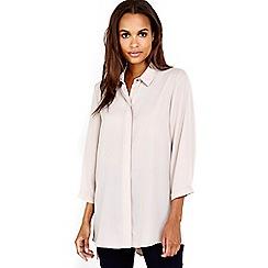 Wallis - Stone button side detail shirt