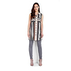 Wallis - Sleeveless stripe long line top