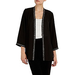Wallis - Black sequin trim jacket