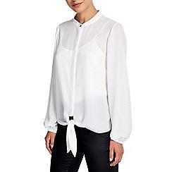 Wallis - Cream tie front blouse