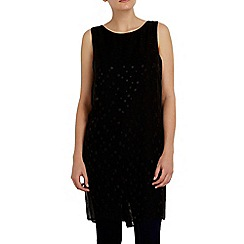 Wallis - Black polka dot tunic top