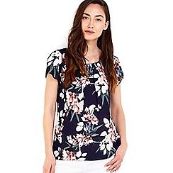 Wallis - Navy floral top