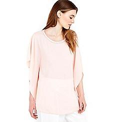 Wallis - Blush embellished kimono top