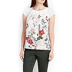 Wallis - Rose border shell top