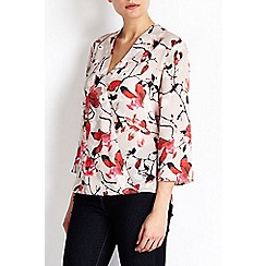 Wallis - Floral printed wrap blouse