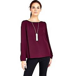 Wallis - Purple necklace top